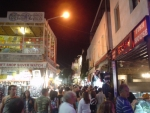 Tourists shopping in Bodrum center at night