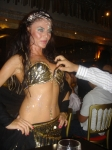 Belly dancer in the famous Meyhane street