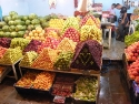 Fruits on the market in Bodrum town