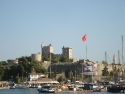 Daylight view of St. Peters castle in Bodrum