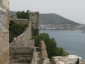 The walls of the castle of St. Peters, Bodrum