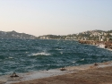 Sea waves in Yalikavak, Bodrum, Turkey