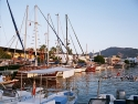 The harbour of Yalikavak with several yachts