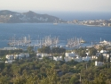 Panoramic view on the harbour of Yalikavak, Bodrum, Turkey
