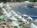 Another view on the long Bodrum beach