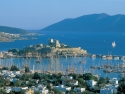 Panorama view on Bodrum and the famous St. Peter's Castle