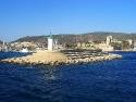 The entrance of Bodrum harbor, Turkey