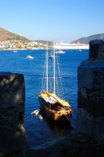 Another great blue sea view from the top of Bodrum Castle