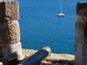 Cannon and sea view from the Bodrum Castle